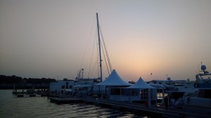Preparing the Dubai International Boat Show