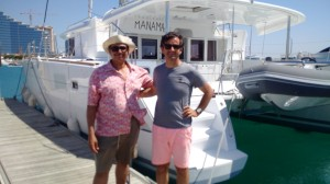 Proud owner of a Lagoon Catamaran & Xavier Bouin
